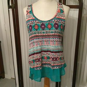 Tunic with Aztec flair